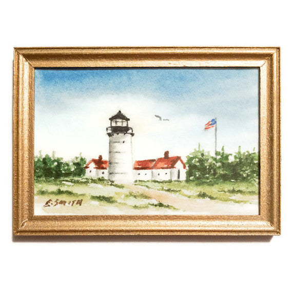 Original - Miniature - 2x3 - Watercolor - Chatham Light - 4