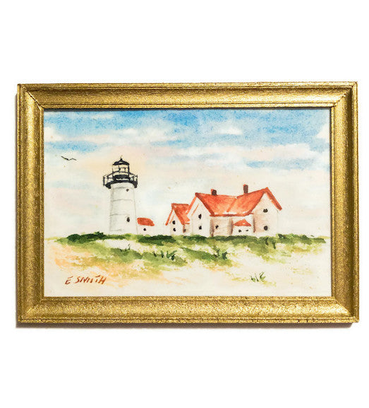 Original - Miniature - 2x3 - Watercolor - Chatham Light - 6