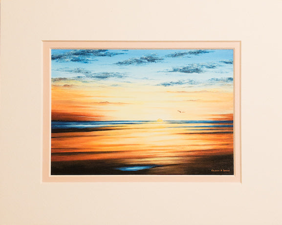 Print - 8x10 - Sundown Flats - Tan Matte