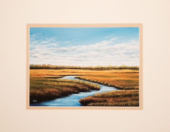 Print - 11x14 - Autumn Marsh - Tan Matte
