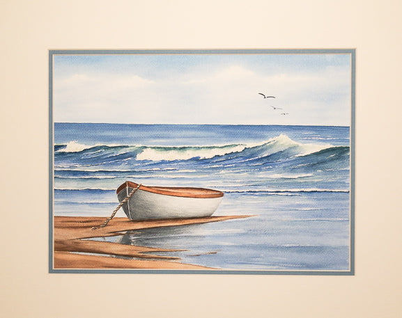 Original - 16x20 - Watercolor - Anchored - Blue Matte