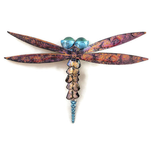 Dragonfly - Wall - Pink Wings - Purple Body