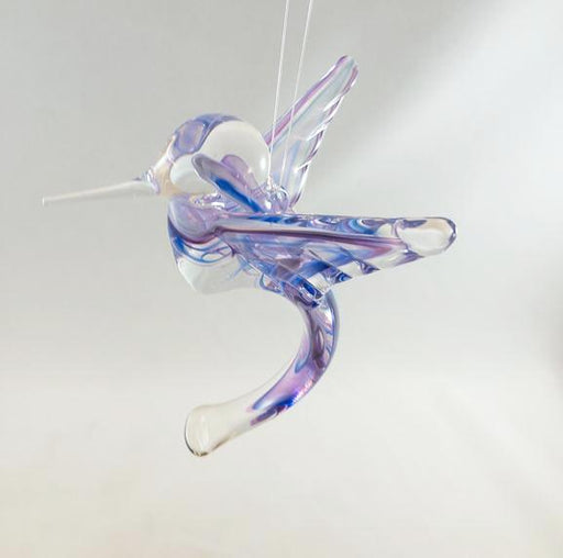 Glass Hummingbird - Cobalt & Purple