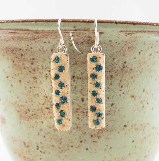 Earrings - Dangle - Indicolite - Cape Cod