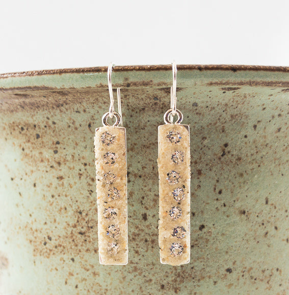 Earrings - Dangle - Crystal Clear - Cape Cod
