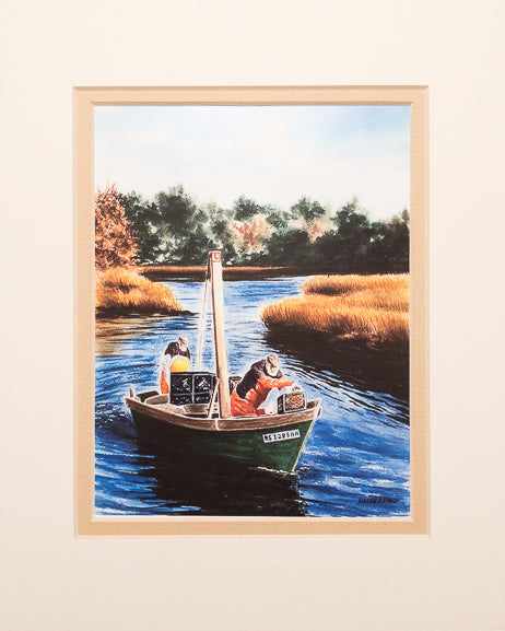 Print - 8x10 - The Catch - Tan Matte
