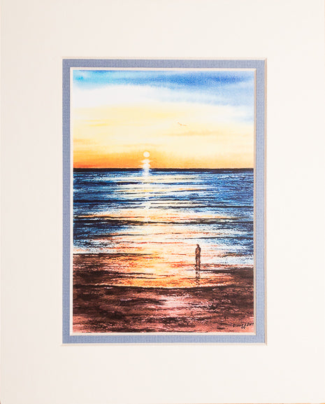 Print - 8x10 - Sunset Walker - Blue Matte