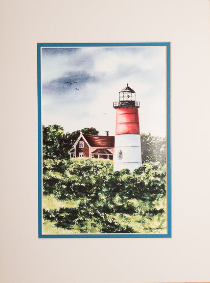 Print - 12x16 - Nauset Light Dark Sky - Blue Matte