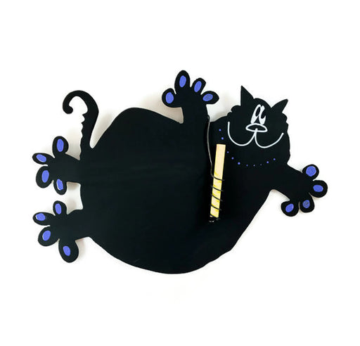 Magnetic Chalkboard - Flying Cat - Purple