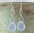 Earrings - Round Teardrop - Periwinkle