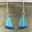 Earrings - Sailboat - Turquoise Blue Sail/Cobalt Hull