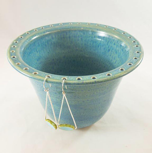 Earring Bowl - Aqua with Glass