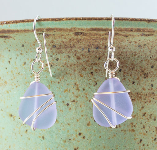 Earrings - Freeform Wraps - Small - Periwinkle