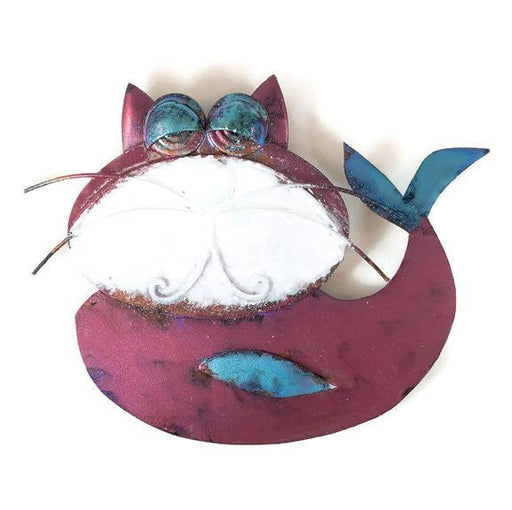 Catfish - Wall - Deep Pink with Blue Fins