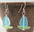Earrings - Sailboat - Turquoise Blue Sail/Peridot Hull