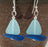 Earrings - Sailboat - Opaque Blue Sail/Cobalt Hull