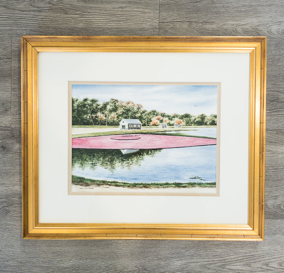 Original - Framed - 14x17- Watercolor - Cranberry Bog - 64