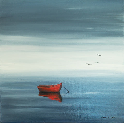Original - 12x12 - Oil - Red Dinghy - 107