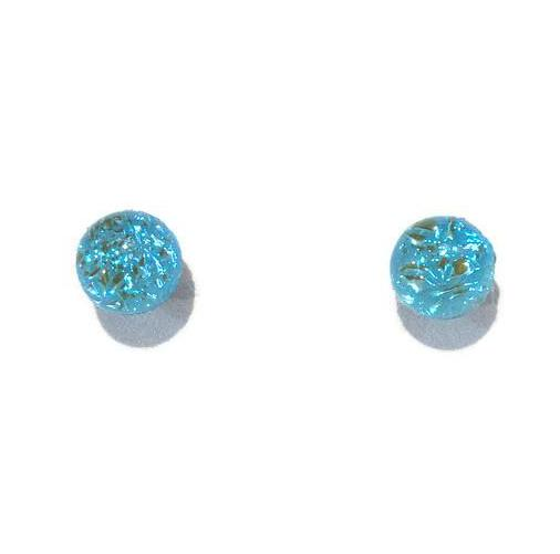 Earrings - Textured Posts - Powder Blue - Small - BM-778