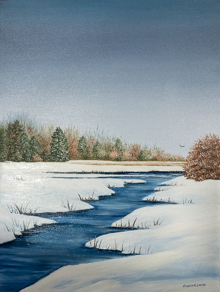 Original - 12x16 - Oil - Winter Stream - 108