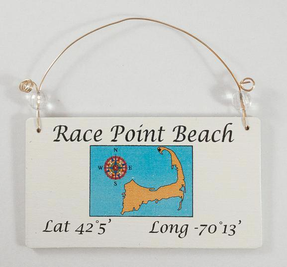 Longitude Ornament - Race Point Beach