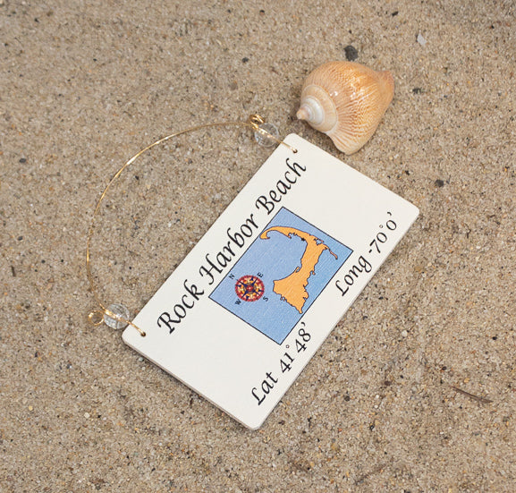 Longitude Ornament - Rock Harbor Beach