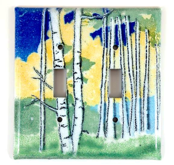 Switch Plate Cover - Double - Aspen