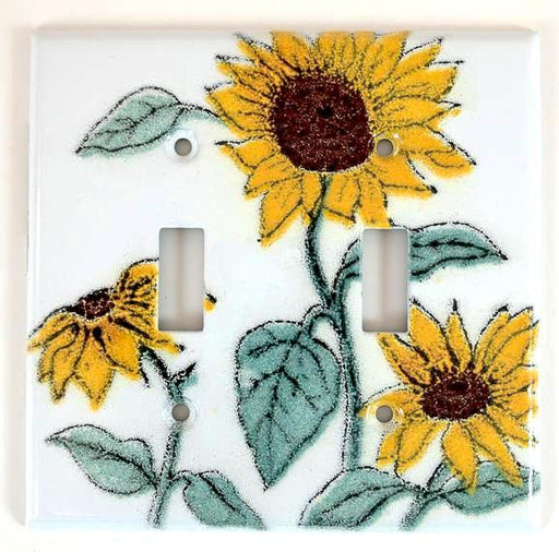 Switch Plate Cover - Double - Sunflower