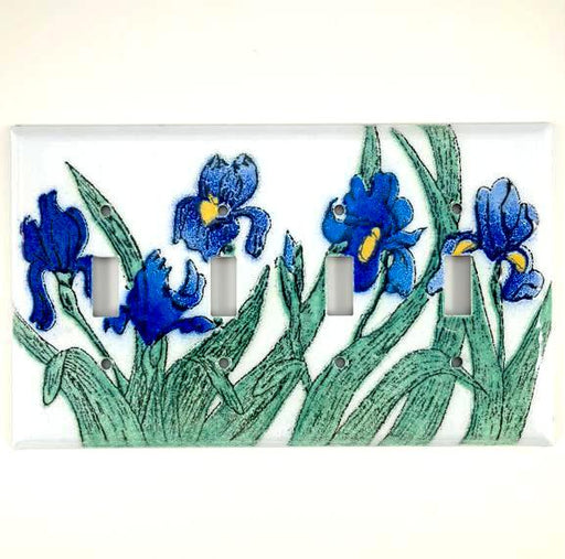 Switch Plate Cover - Quad - Iris