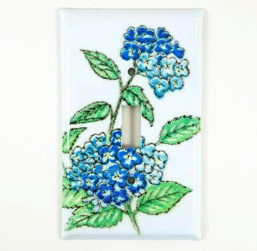 Switch Plate Cover - Single - Hydrangea Blue