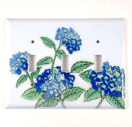 Switch Plate Cover - Triple - Hydrangea Blue