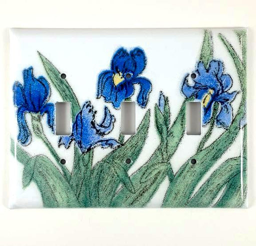 Switch Plate Cover - Triple - Iris Blue