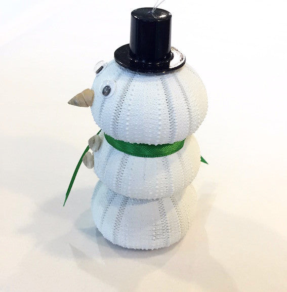 Ornament - Sea Urchin Snowman - Green