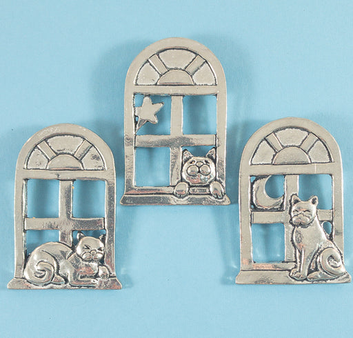 Magnet Set - Cats in Window