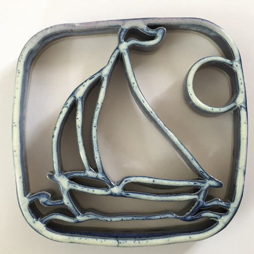 Trivet - Sailboat - Navy