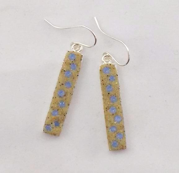 Earrings - Dangle - Air Blue Opal Crystals - Nauset