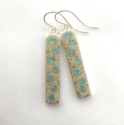 Earrings - Dangle - Pacific Blue Opal - Nauset
