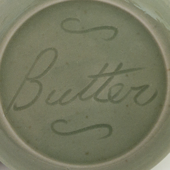 French Butter Dish - Celedon - Butter