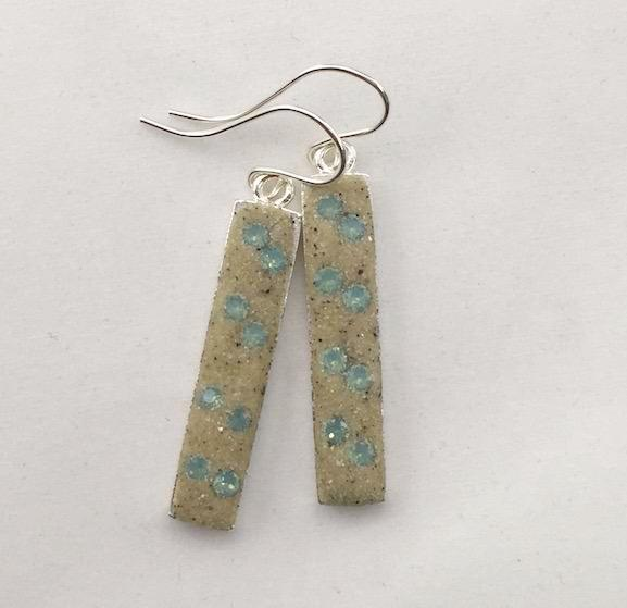 Earrings - Dangle - Pacific Blue Opal - Skaket