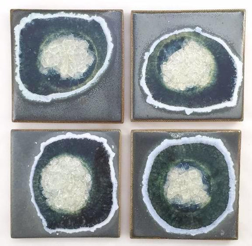 Coasters with Glass - Grey