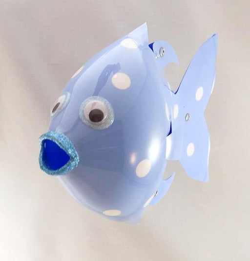 Soda Bottle Fish - Spotted Minnow - Periwinkle Blue