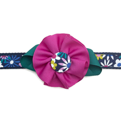 Dog Collar - Floral Flower - Large