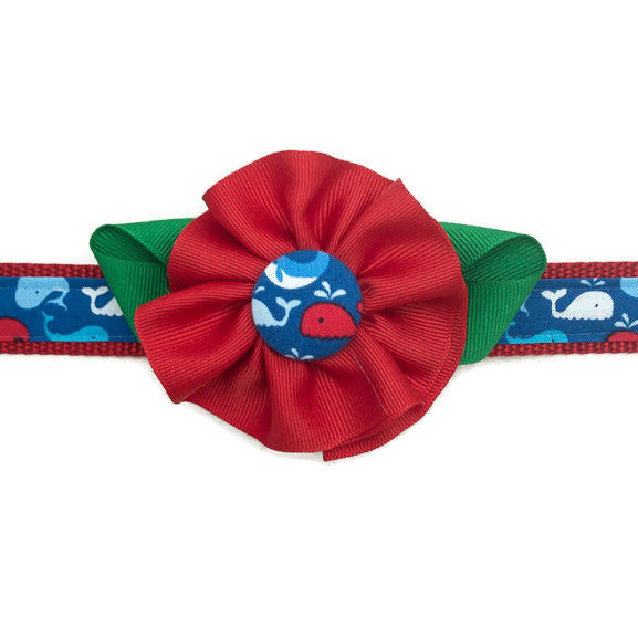 Dog Collar - Whale Flower - Medium