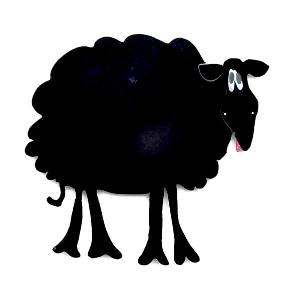 Magnetic Chalkboard - Sheep - Plain