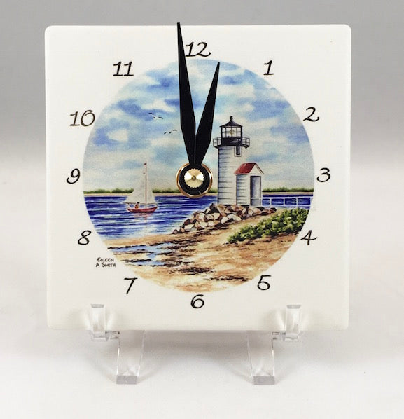 Clock - Desk - Brant Point Light - Black Hand