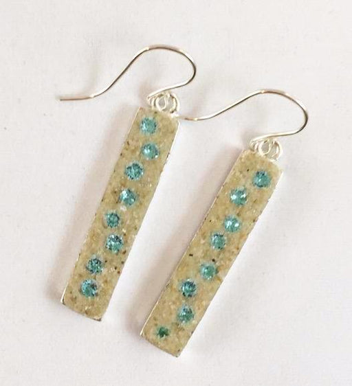 Earrings - Dangle - Light Turquoise - Crosby