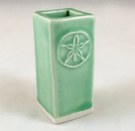 Bud Vase - Large - Green - Sand Dollar