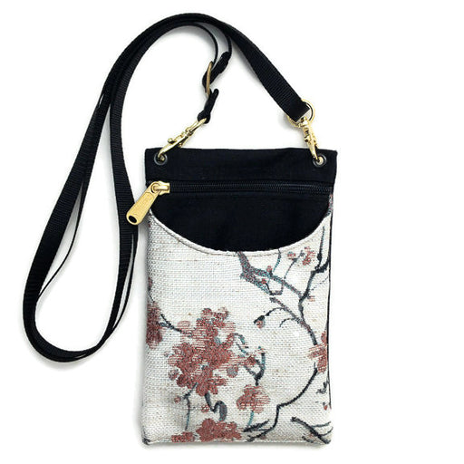Purse - Cell Phone Case - Adjustable - Cherry Blossom