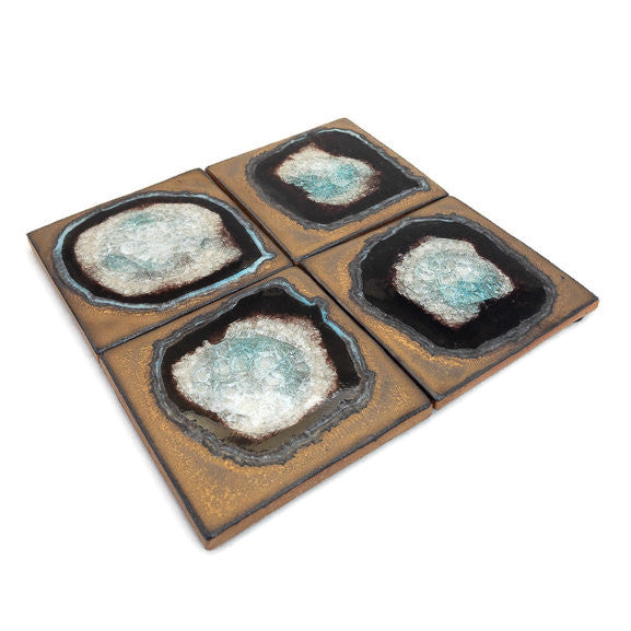 Coasters with Glass - Bronze