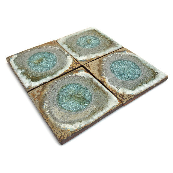Coasters with Glass - Copper